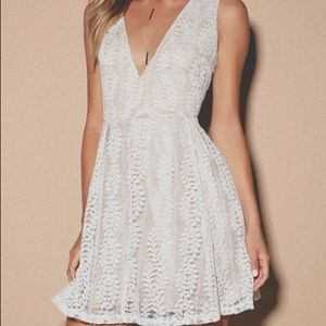 All of My Heart White Lace Skater Dress.